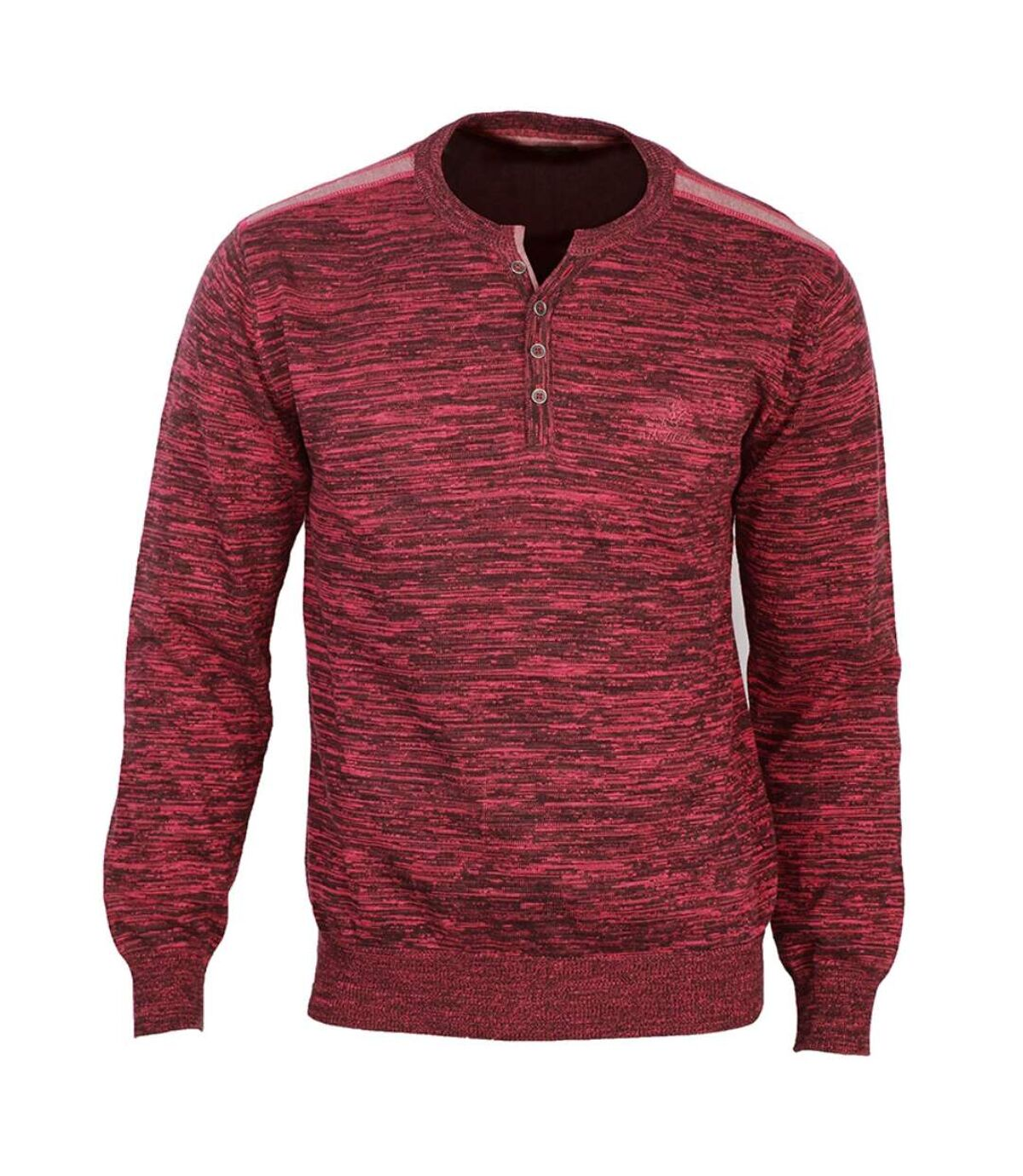 PACIFIC2 PULL CHINE COL BOUTON ROUGE/GRIS