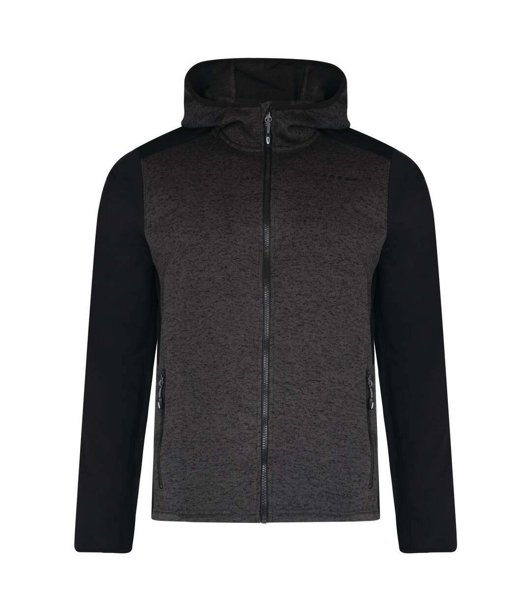 Dare 2B Mens Igneous Softshell Hoodie (Charcoal/Black) - UTRG3907