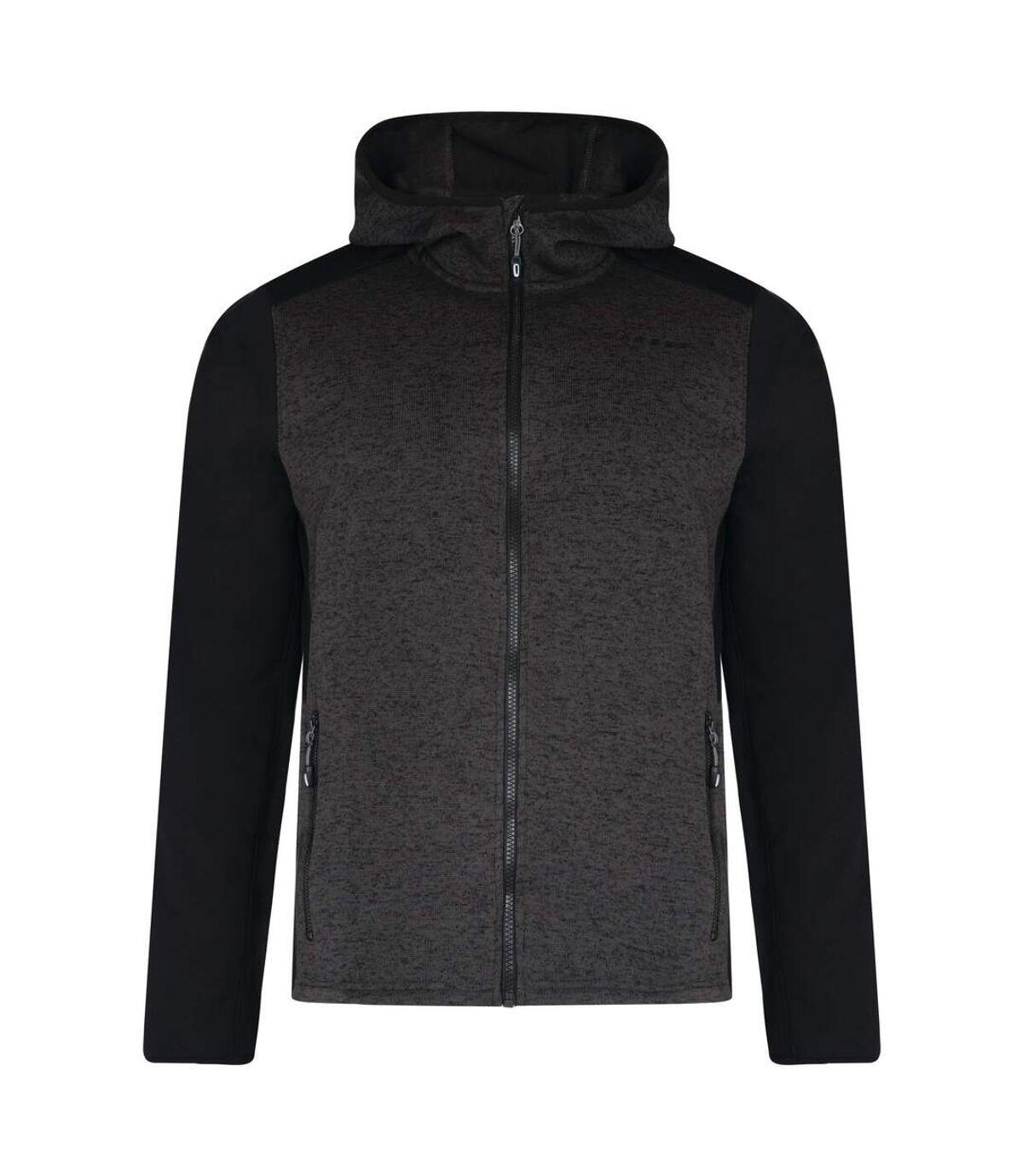Dare 2B Mens Igneous Softshell Hoodie (Charcoal/Black) - UTRG3907