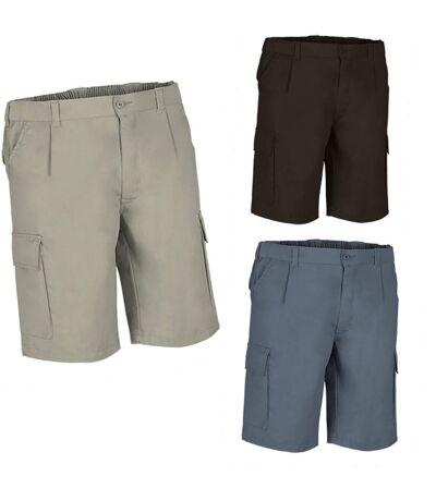 Lot 3 Bermudas pour homme - DESERT - noir - gris et beige sable