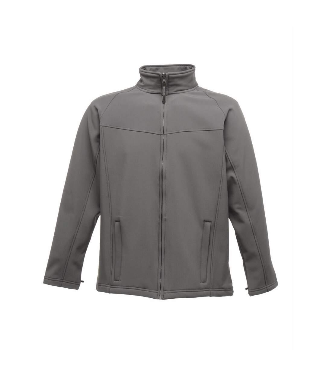 Regatta Professional Mens Uproar Softshell Wind Resistant Fleece Jacket (Seal Grey) - UTBC811