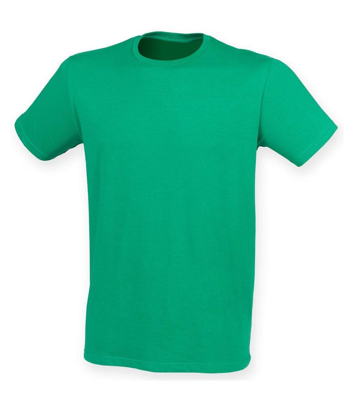 Skinni Fit - T-shirt manches courtes FEEL GOOD - Homme (Vert) - UTRW4427