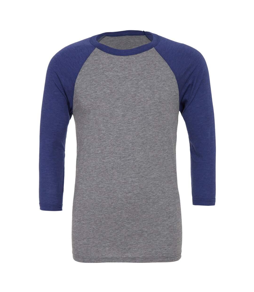 Canvas Mens 3/4 Sleeve Baseball T-Shirt (White/Deep Heather) - UTBC1332