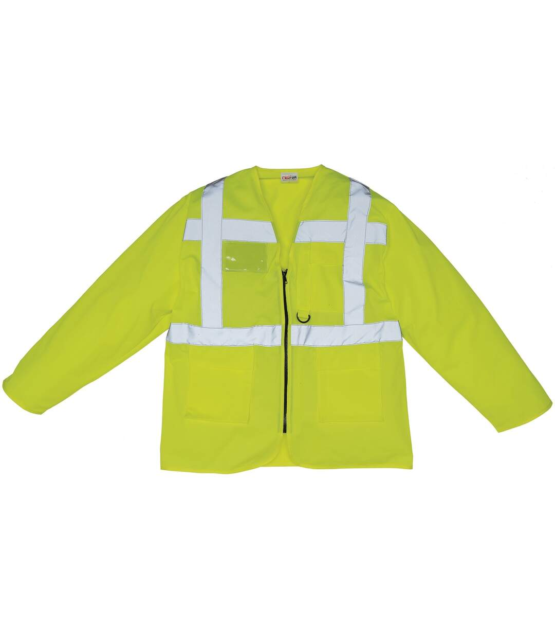 Yoko Mens Executive Hi-Vis Long Sleeve Safety Waistcoat (Pack of 2) (Hi-Vis Yellow) - UTBC4397