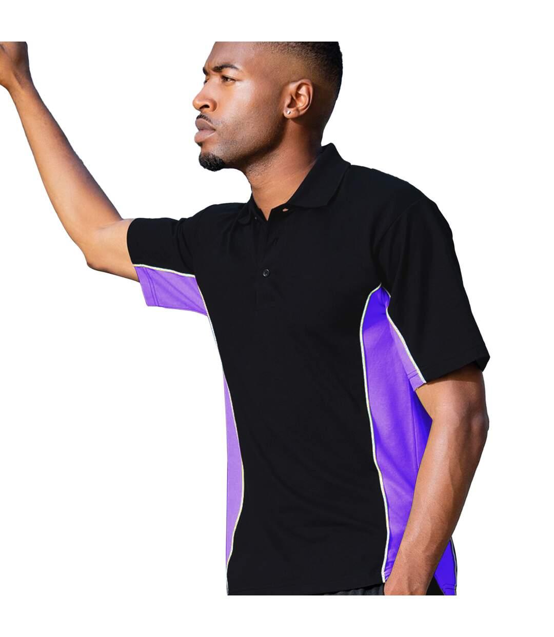 Gamegear® Mens Track Pique Short Sleeve Polo Shirt Top (Black/Royal/White) - UTBC412