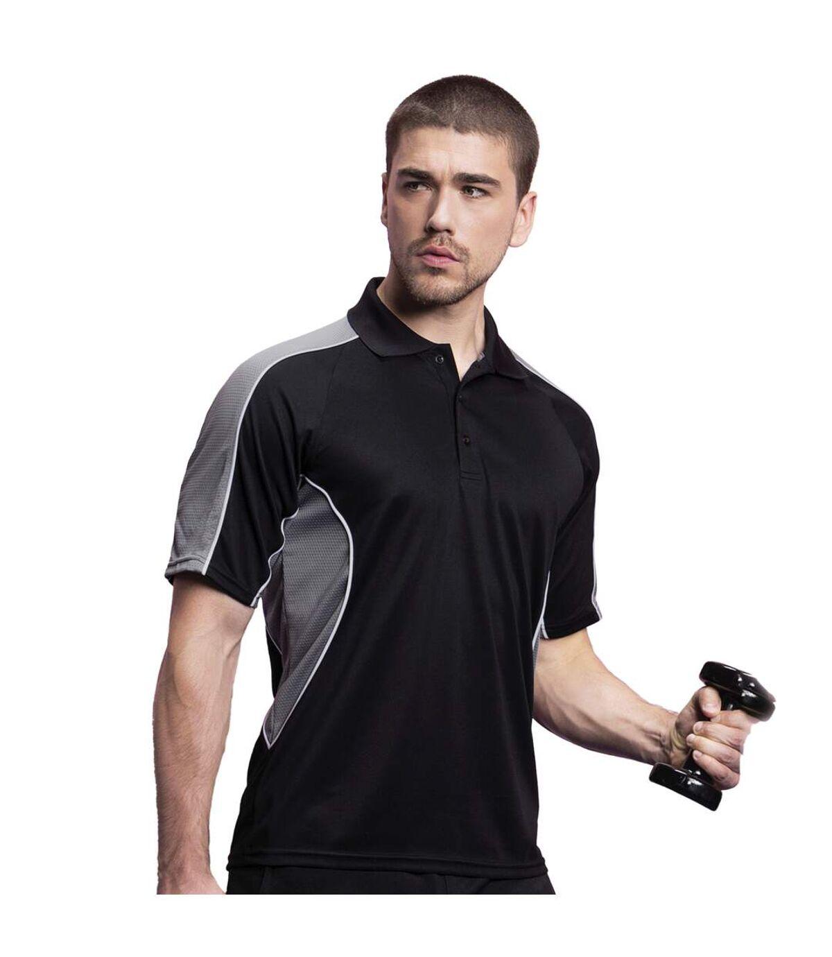 Gamegear® Cooltex Active Mens Short Sleeve Polo Shirt (Navy/Light Blue) - UTBC420