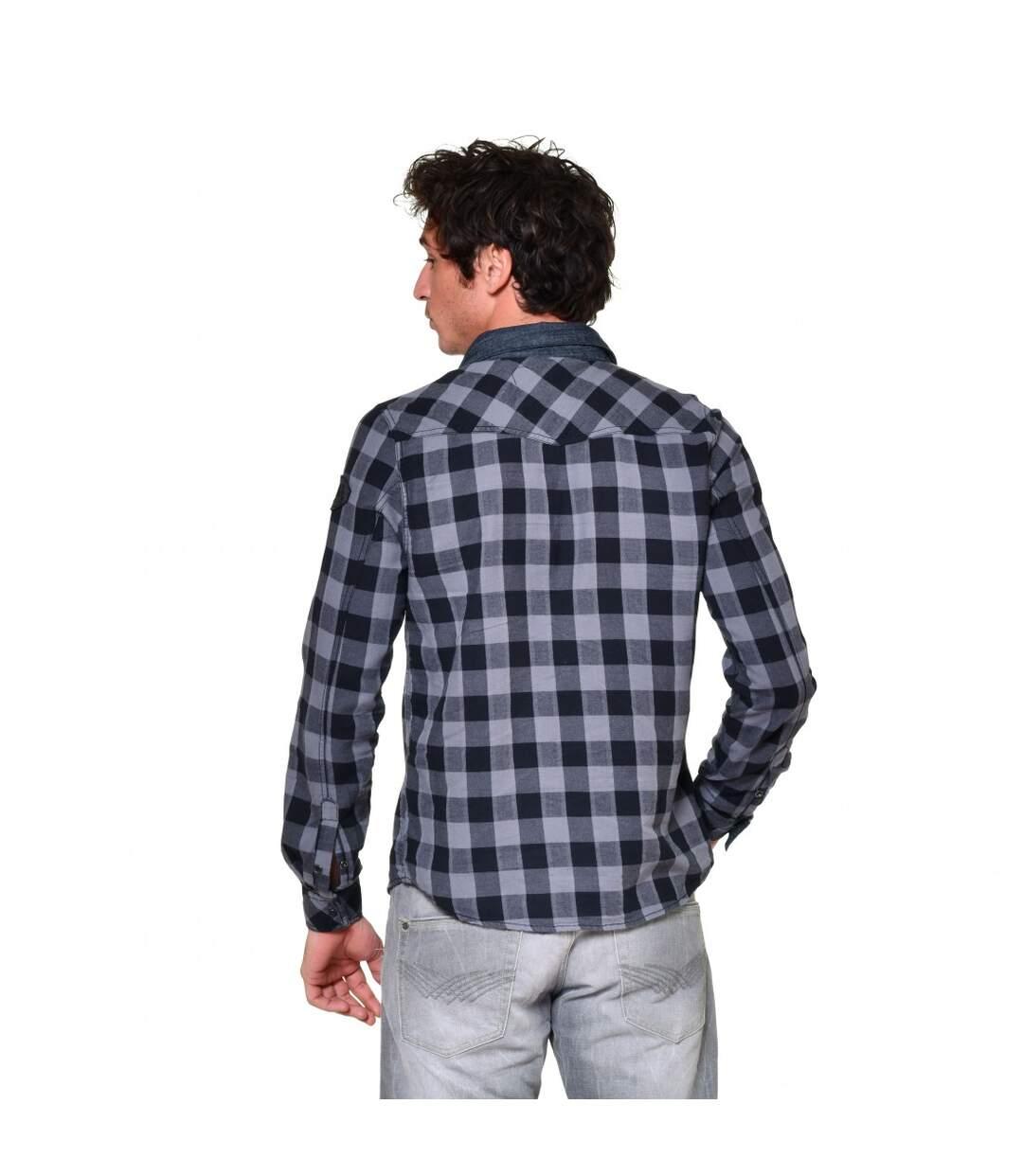 Chemise manches longues à carreaux homme Wall