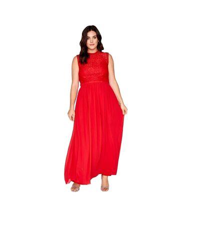 Little Mistress - Robe longue avec ceinture noeud - Femme (Rouge cayenne) - UTLM1292