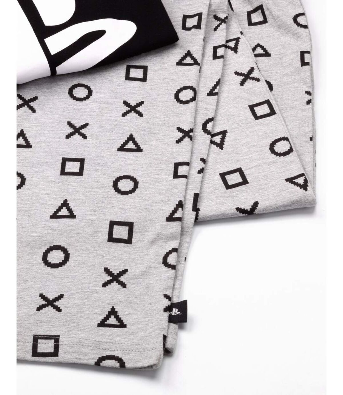 Playstation Mens Logo Long Pyjama Set (Black/Grey) - UTNS5757