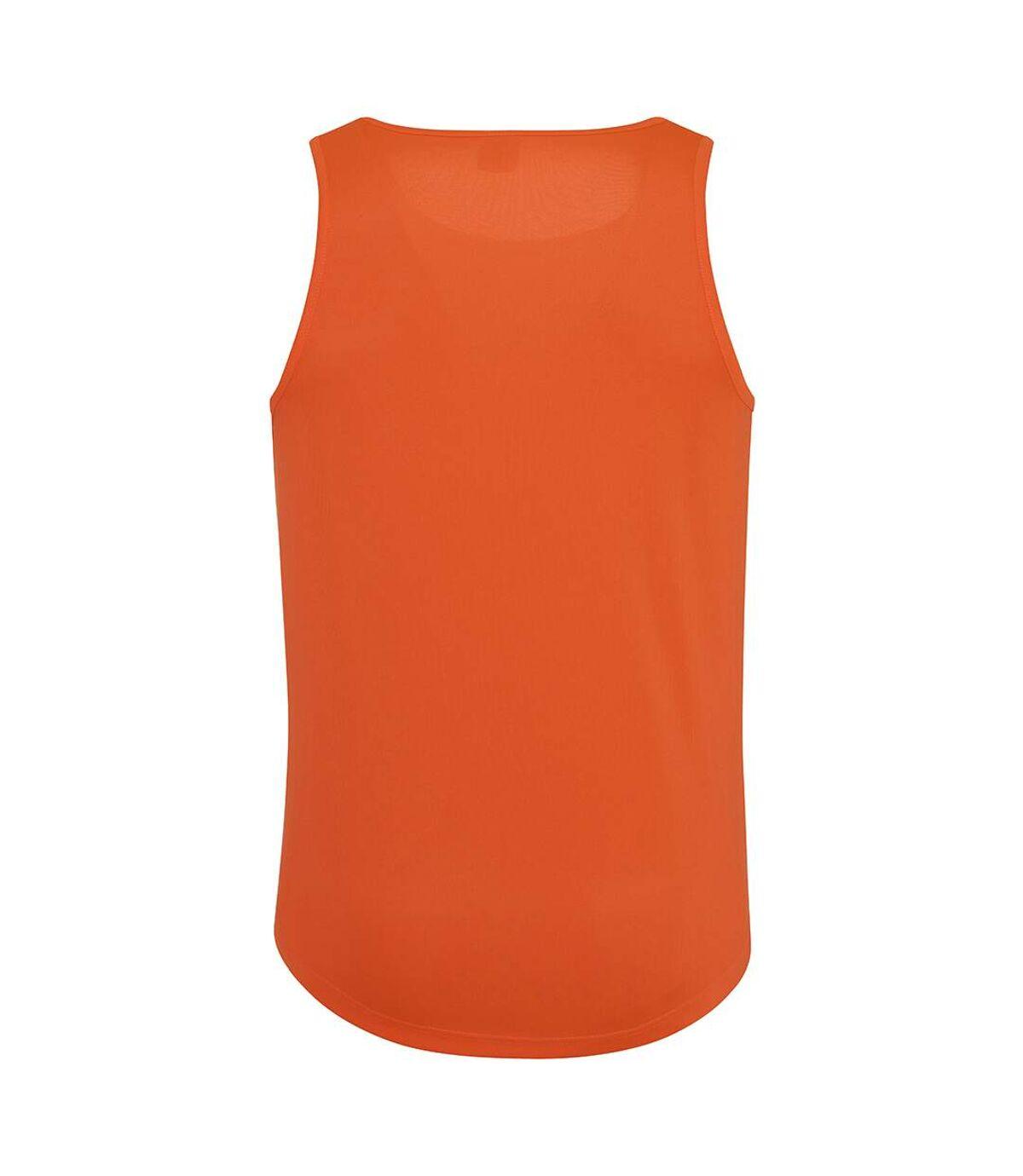 AWDis Just Cool Mens Sports Gym Plain Tank / Vest Top (Heather Grey) - UTRW687
