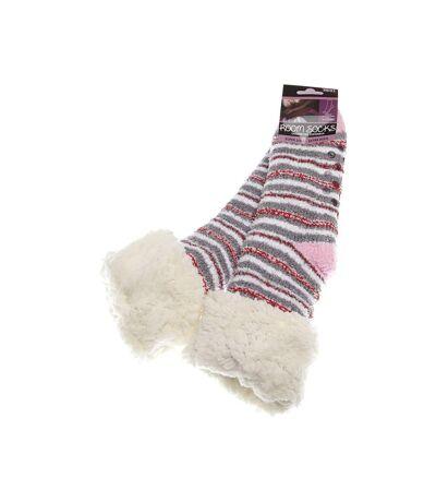 Chaussette Montantes - 1 paire - Anti bactérienne - Pilou pilou - Chaude - Multicolore - Room socks
