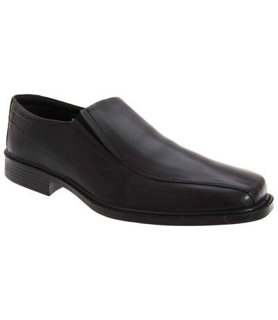 Roamers Mens Superlite Twin Gusset Leather Shoes (Black) - UTDF117