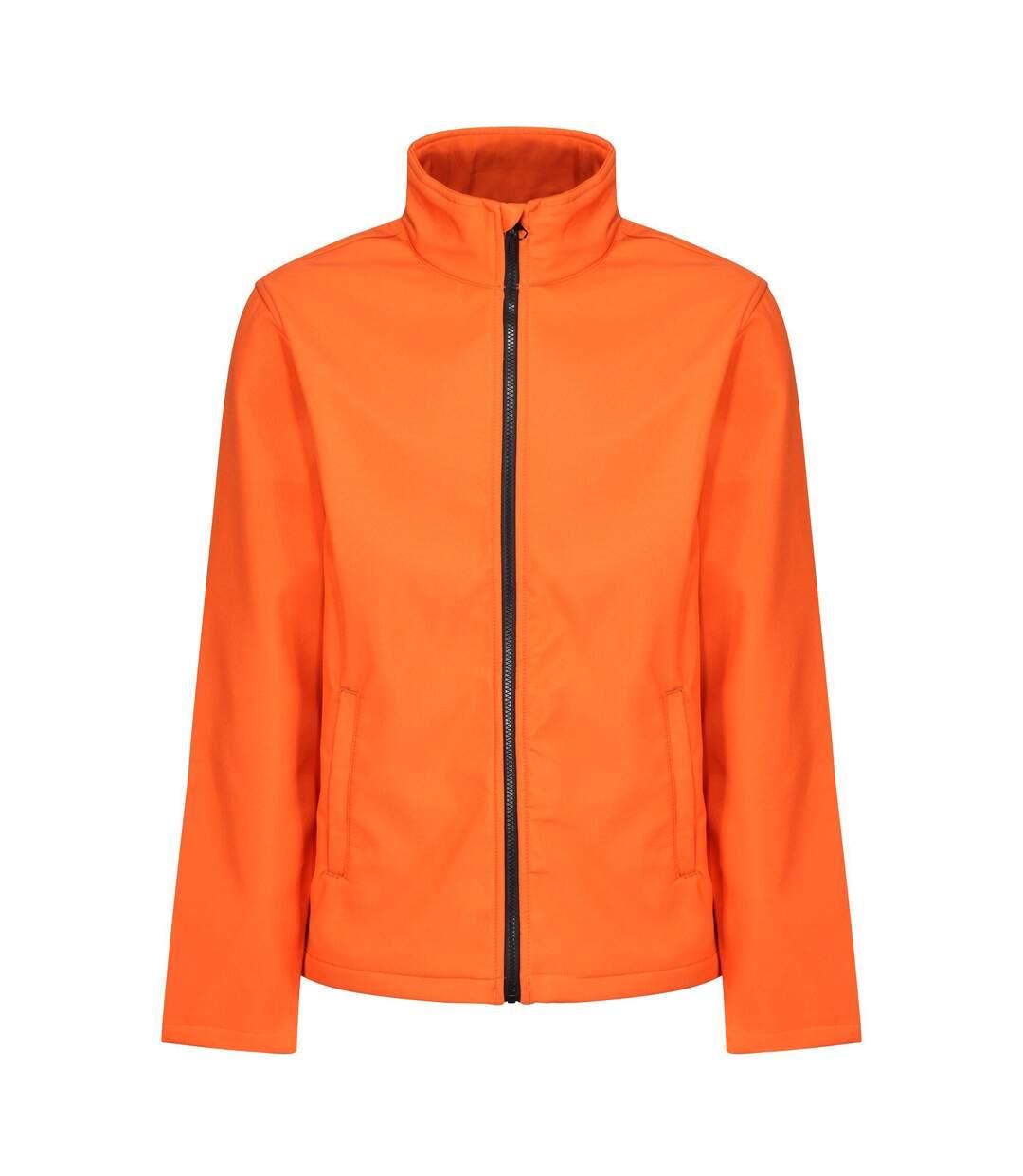 Regatta Standout Mens Ablaze Printable Soft Shell Jacket (Magma Orange/Black) - UTPC3322