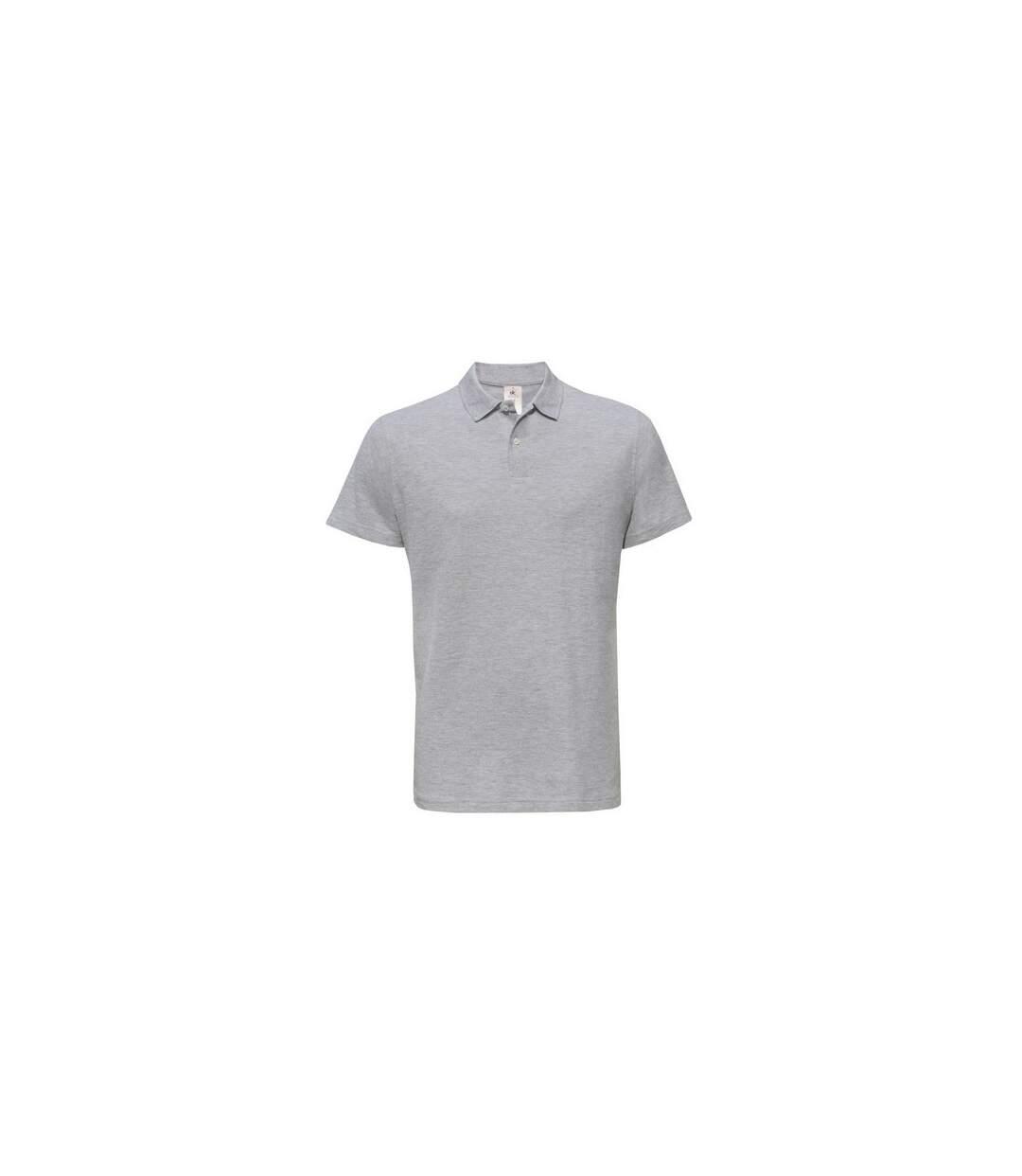 B&C ID.001 Unisex Adults Short Sleeve Polo Shirt (Heather Grey) - UTBC1285
