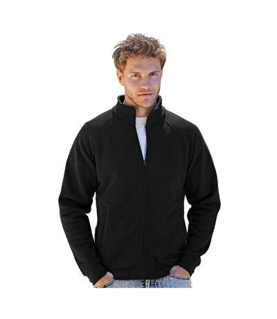 Fruit Of The Loom Mens Premium 70/30 Full Zip Sweatshirt Jacket (Black) - UTRW3165
