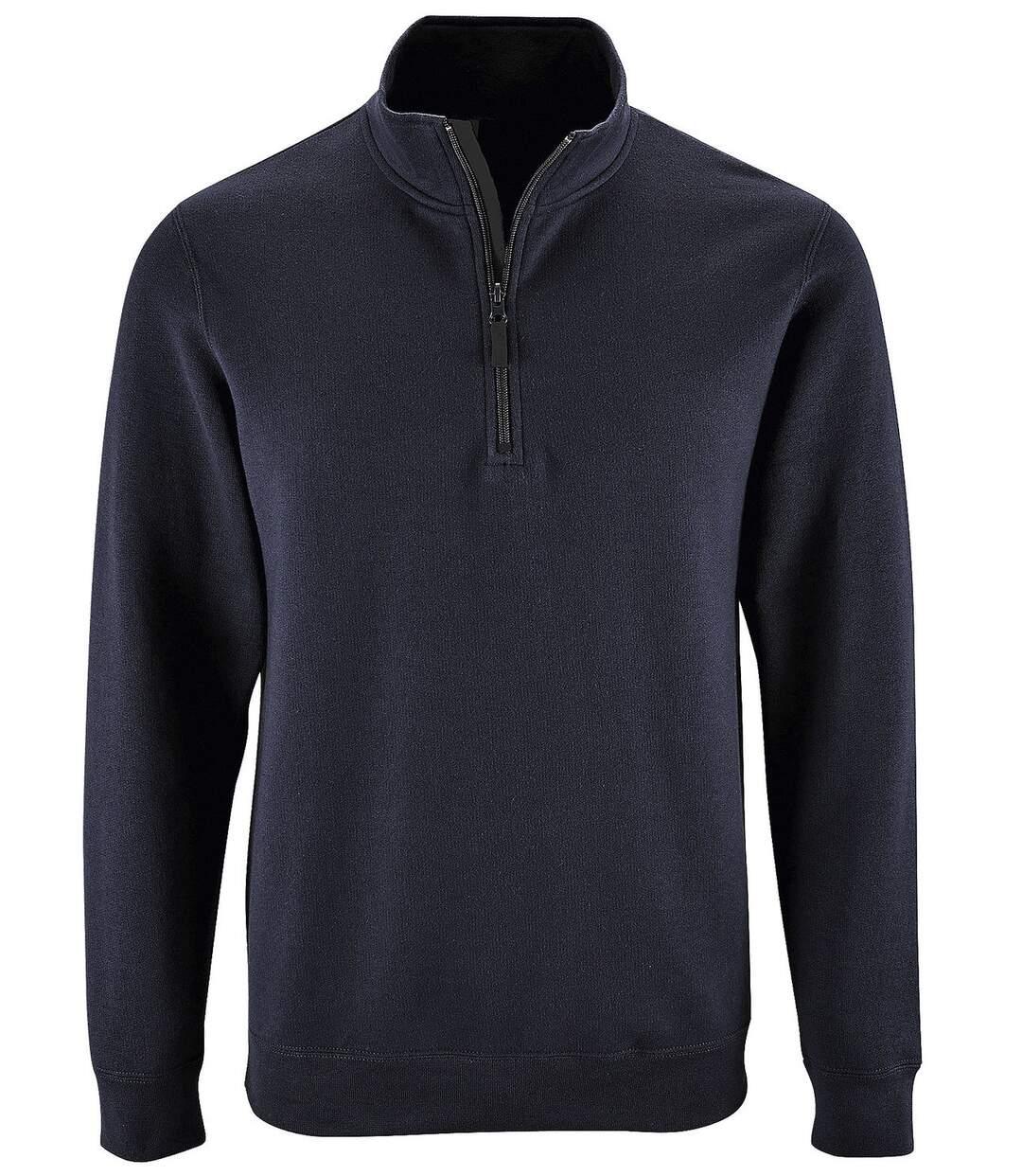 Sweat-shirt col camionneur - 02088 - bleu marine