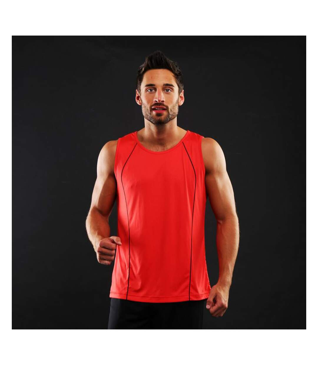 Rhino Mens Rio Sport Rugby Vest (Red/ Black) - UTRW4413