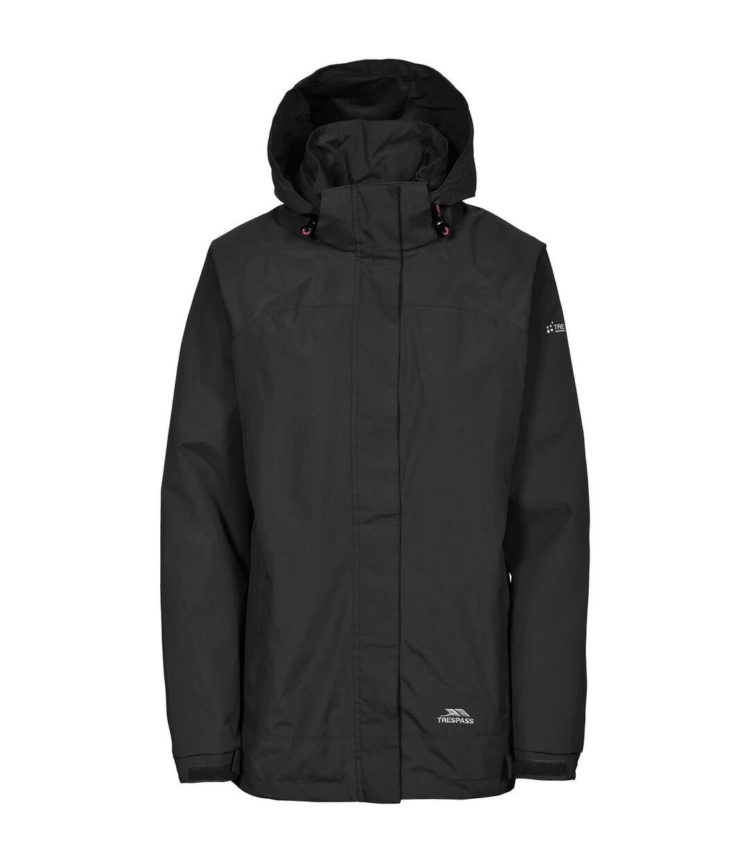 Trespass Womens/Ladies Nasu II Waterproof Shell Jacket (Black) - UTTP3377