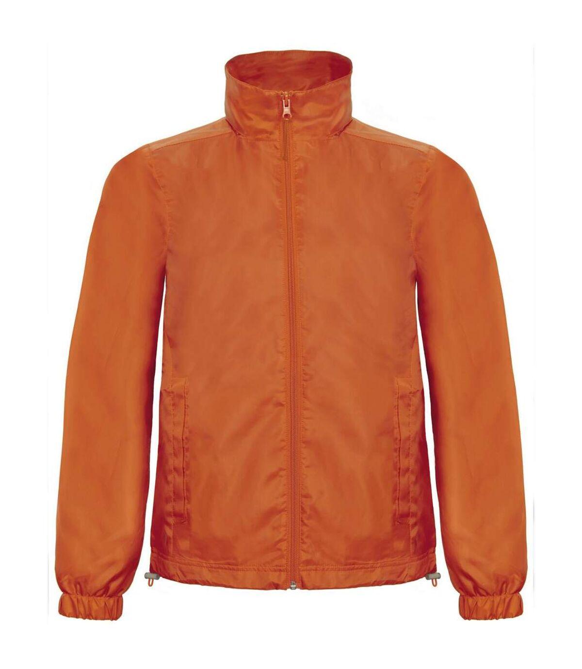 B&C Mens ID.601 Hooded Showerproof Windbreaker Jacket (Orange) - UTRW3524