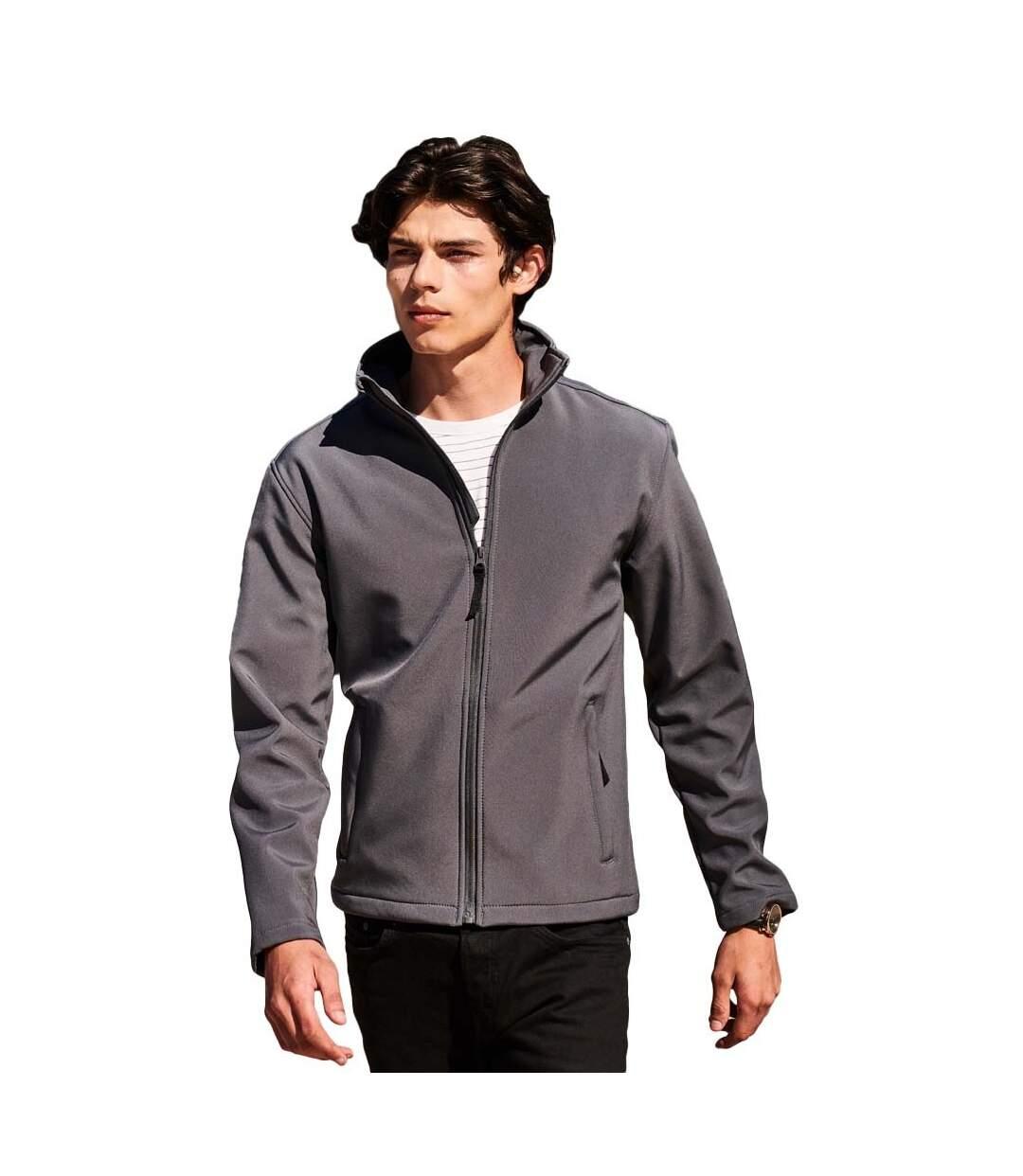 Regatta Reid Mens Softshell Wind Resistant Water Repellent Jacket (Black) - UTRG1599