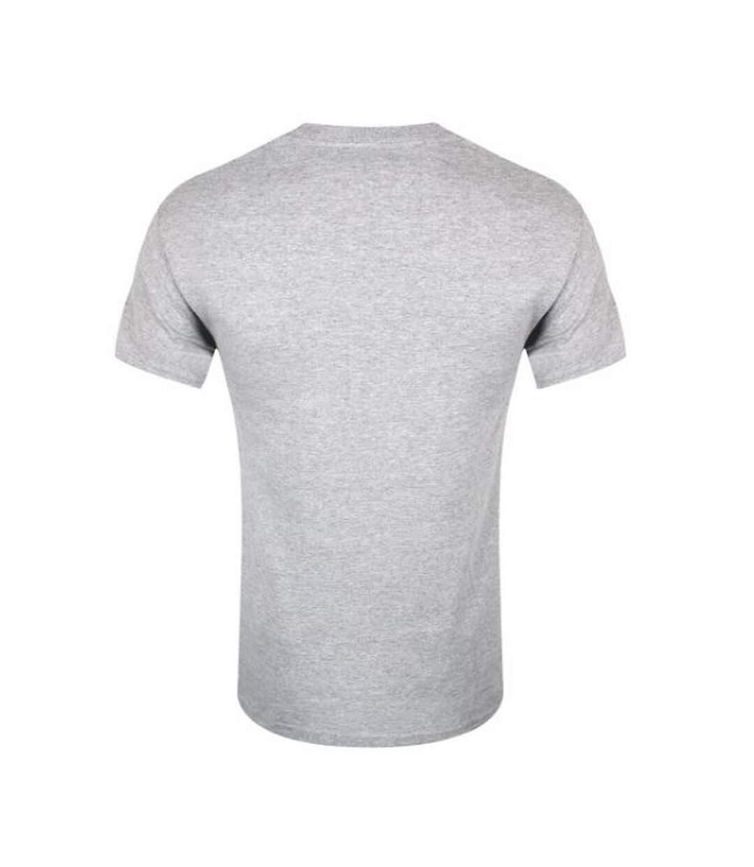 Grindstore Mens Santa Rex Christmas T-Shirt (Grey) - UTGR1971