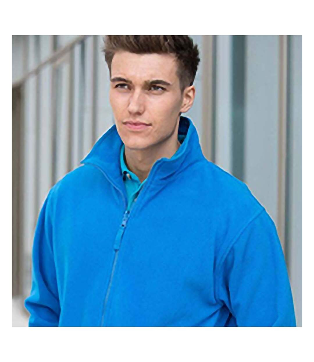 Henbury Mens Microfleece Anti-Pill Jacket (Royal) - UTRW678