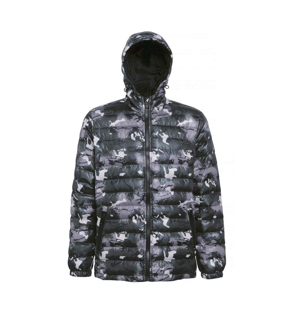 2786 Mens Hooded Water & Wind Resistant Padded Jacket (Camo Green) - UTRW3424