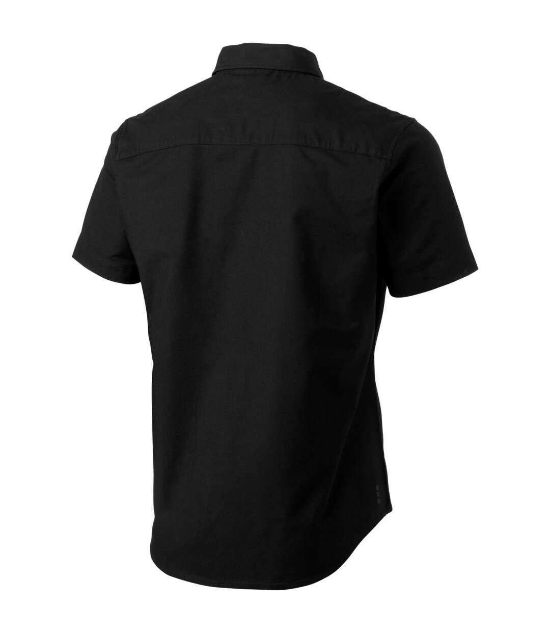 Elevate Manitoba Short Sleeve Shirt (Solid Black) - UTPF1833