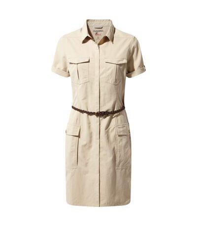 Craghoppers - Robe-chemise SAVANNAH - Femme (Beige) - UTCG1057