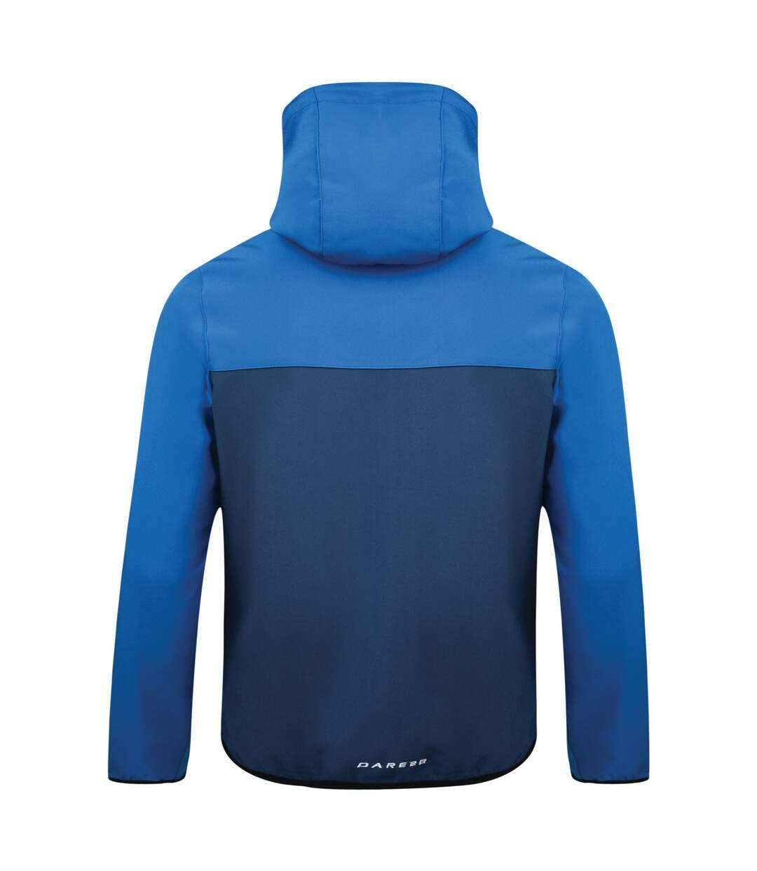 Dare 2b Mens Devise Softshell Jacket (Admiral Blue/Oxford Blue) - UTRG2994