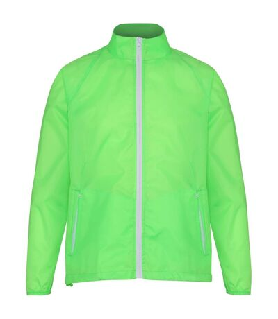 2786 Mens Contrast Lightweight Windcheater Shower Proof Jacket (Pack of 2) (Lime/ White) (XL) - UTRW7001
