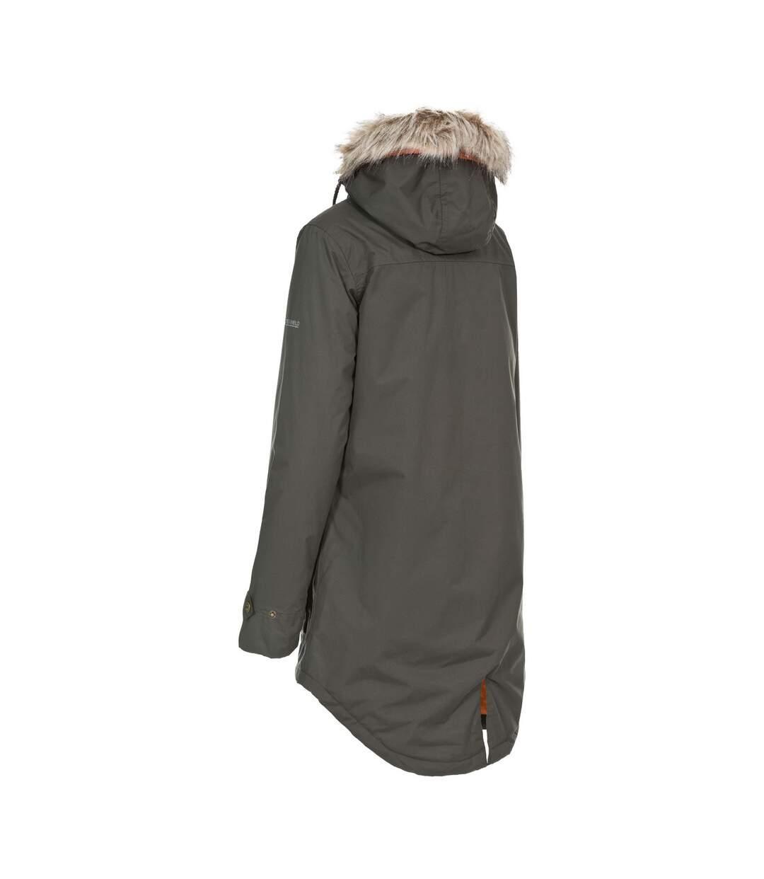 Trespass Womens/Ladies Clea Waterproof Parka Padded Jacket (Dark Khaki) - UTTP4500