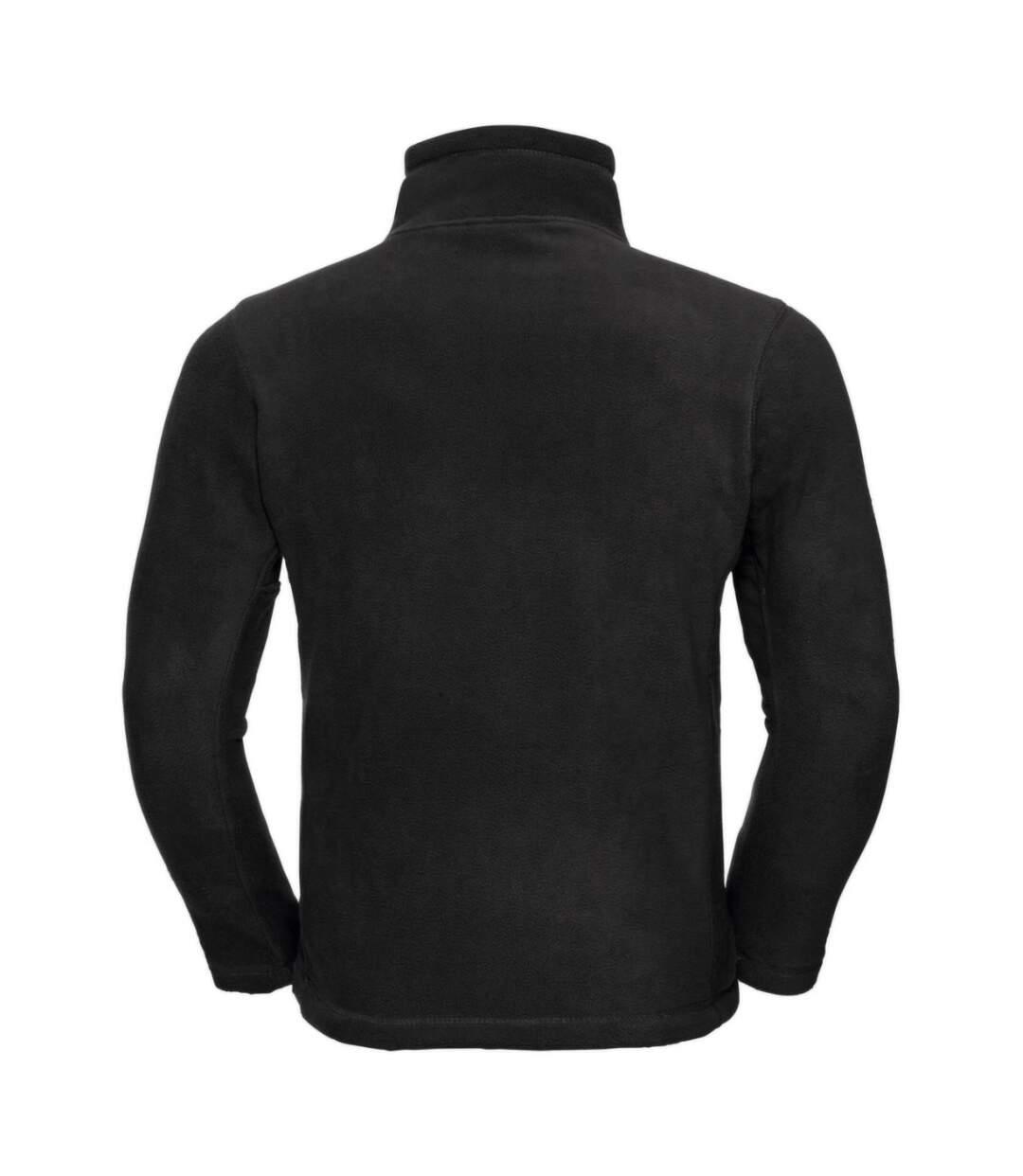Russell Mens 1/4 Zip Outdoor Fleece Top (Black) - UTBC1438