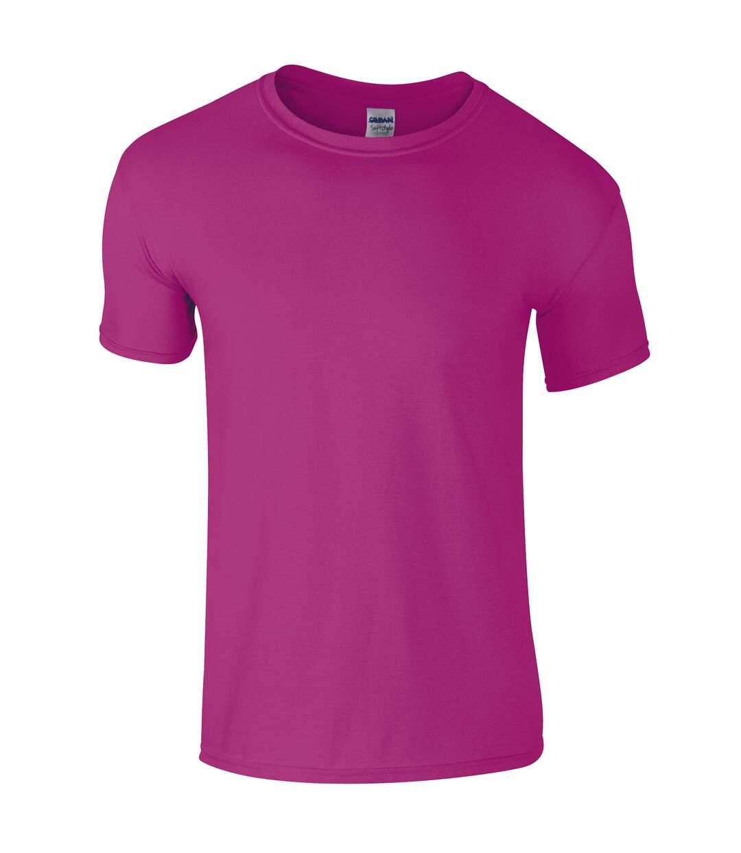 Gildan Mens Short Sleeve Soft-Style T-Shirt (Antique Heliconia) - UTBC484