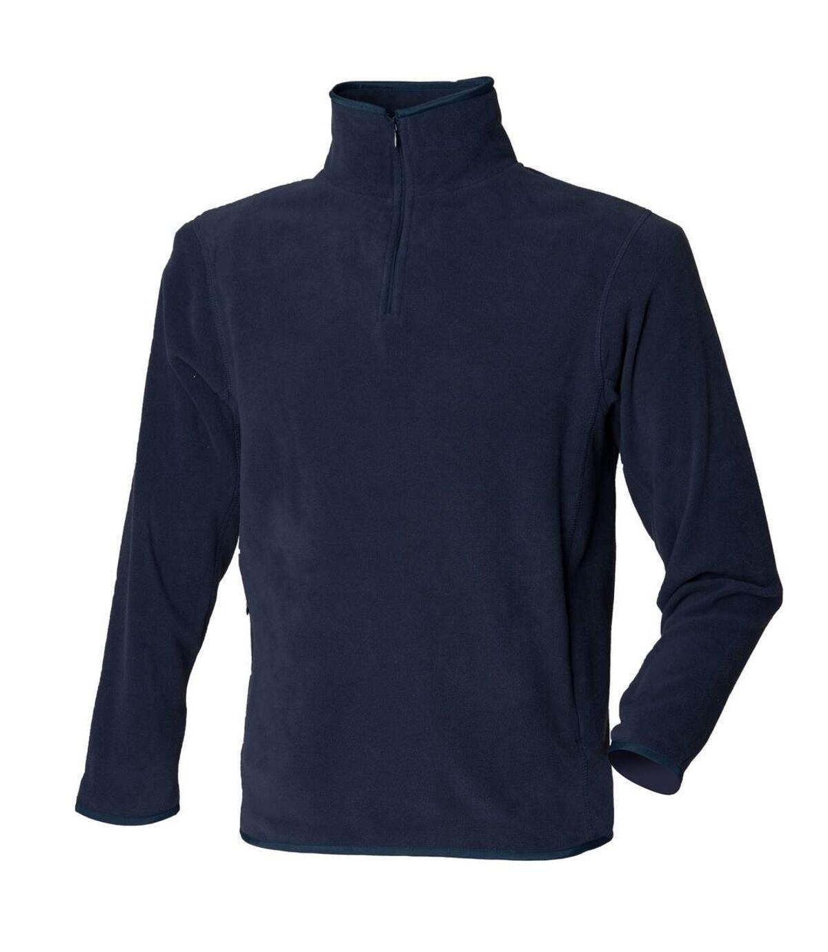 Henbury - Haut polaire à fermeture zippée - Homme (Bleu marine) - UTRW680
