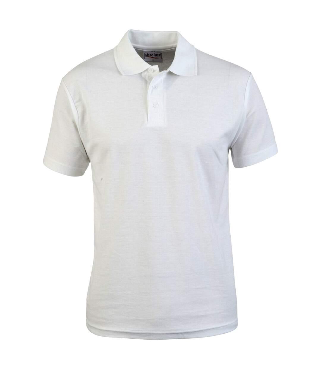 Absolute Apparel Mens Pioneer Polo (White) - UTAB104