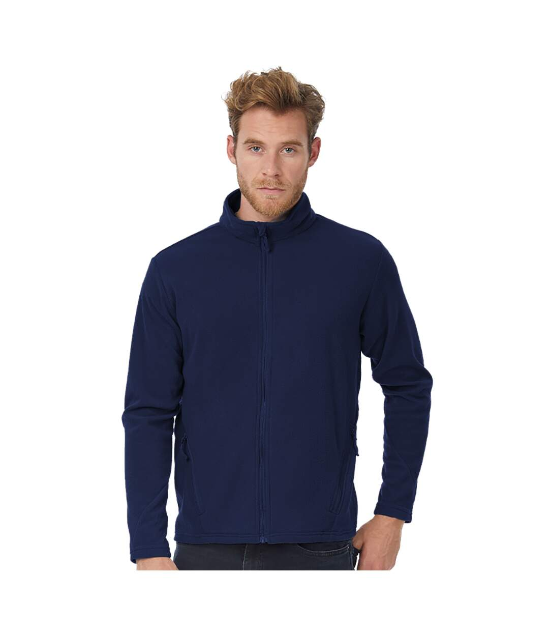 B&C Mens Coolstar Ultra Light Full Zip Fleece Top (Navy) - UTRW3033