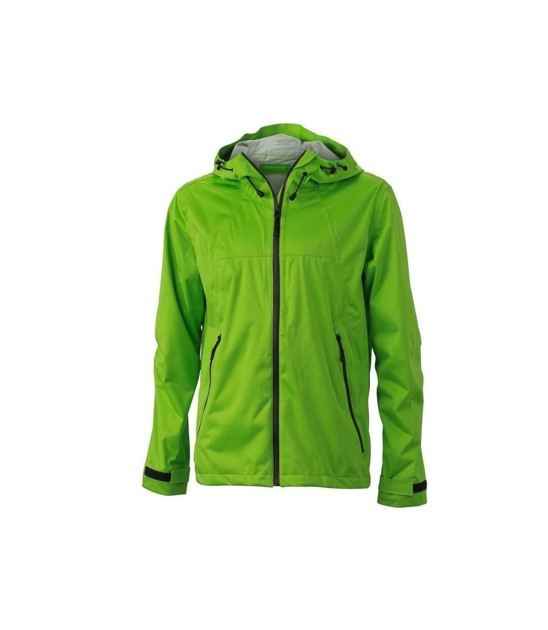 Veste softshell à capuche - homme JN1098 vert - coupe-vent imperméable