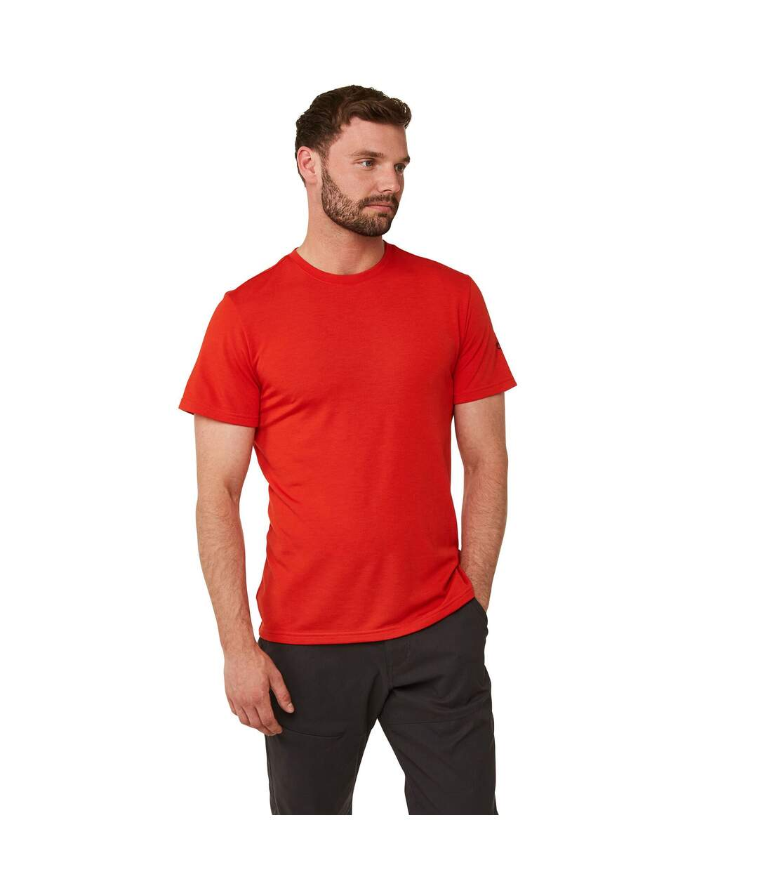 Craghoppers Mens First Layer Short Sleeve T-shirt (Aster Red) - UTCG985