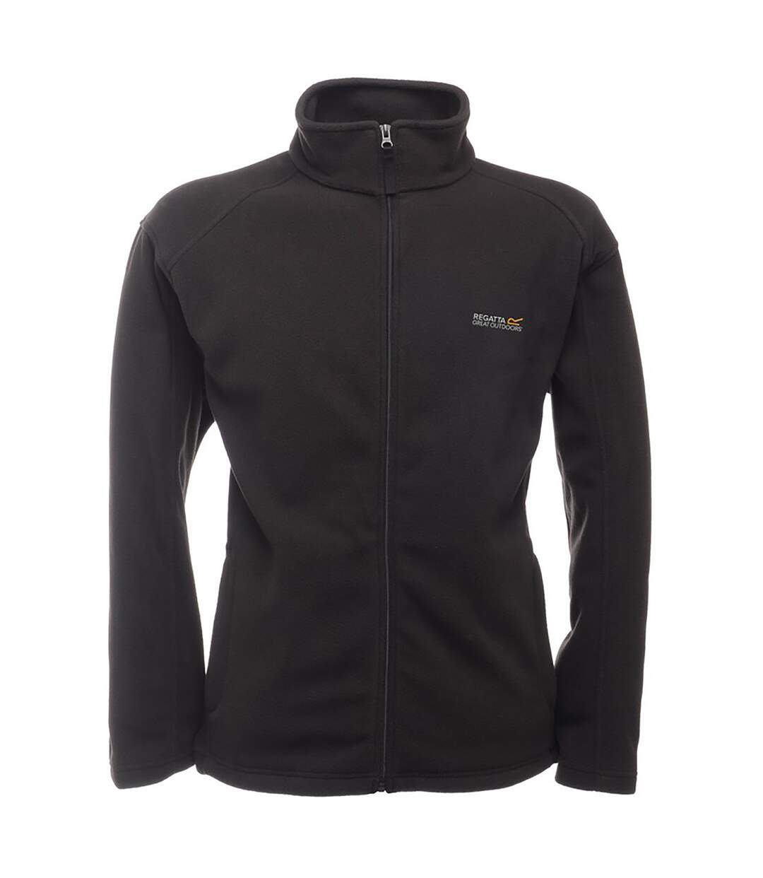 Regatta Great Outdoors Mens Hedman II Two Tone Full Zip Fleece Jacket (Black/Black) - UTRG1398