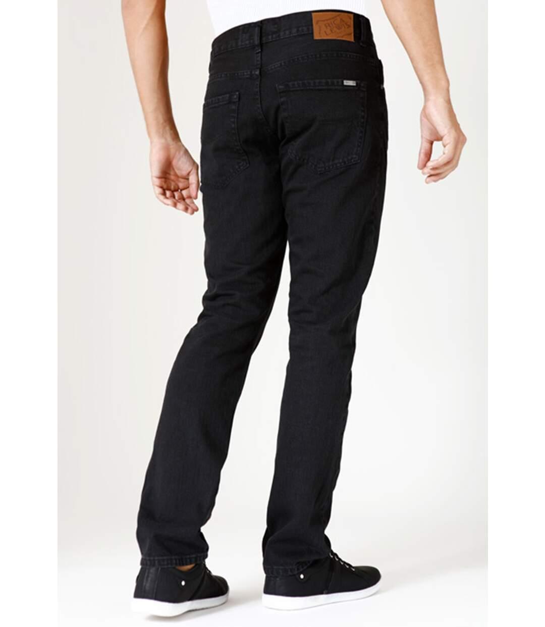 Jeans coton coupe confort noir noir