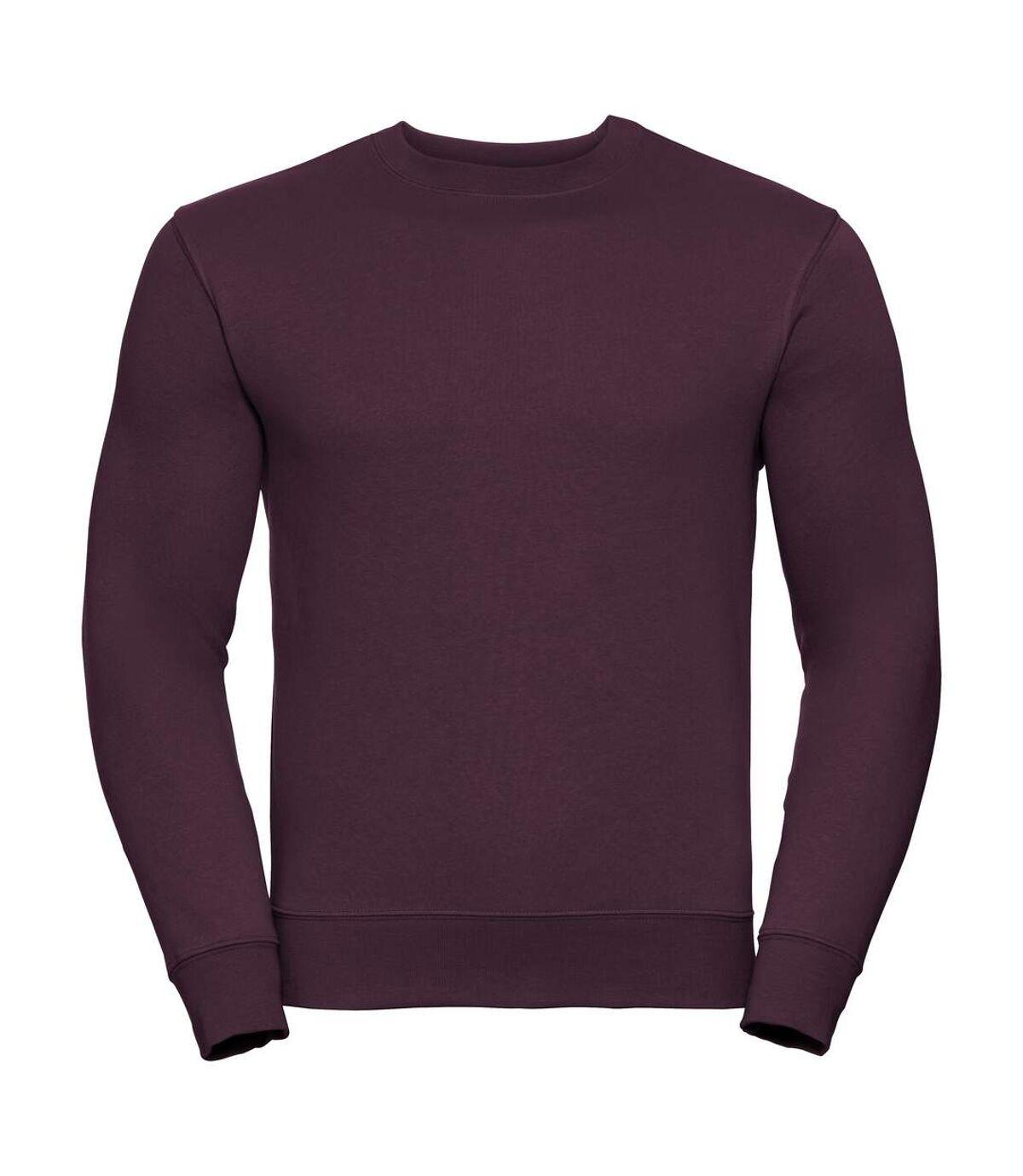 Russell Mens Authentic Sweatshirt (Slimmer Cut) (Burgundy) - UTBC2067