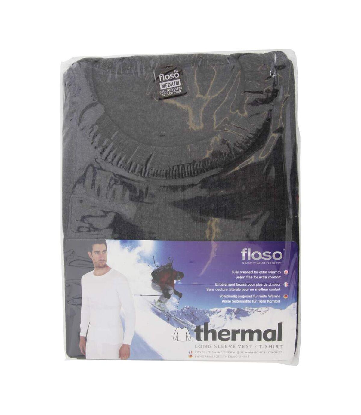 FLOSO - T-shirt thermique à manches longues - Homme (Gris foncé) - UTTHERM22
