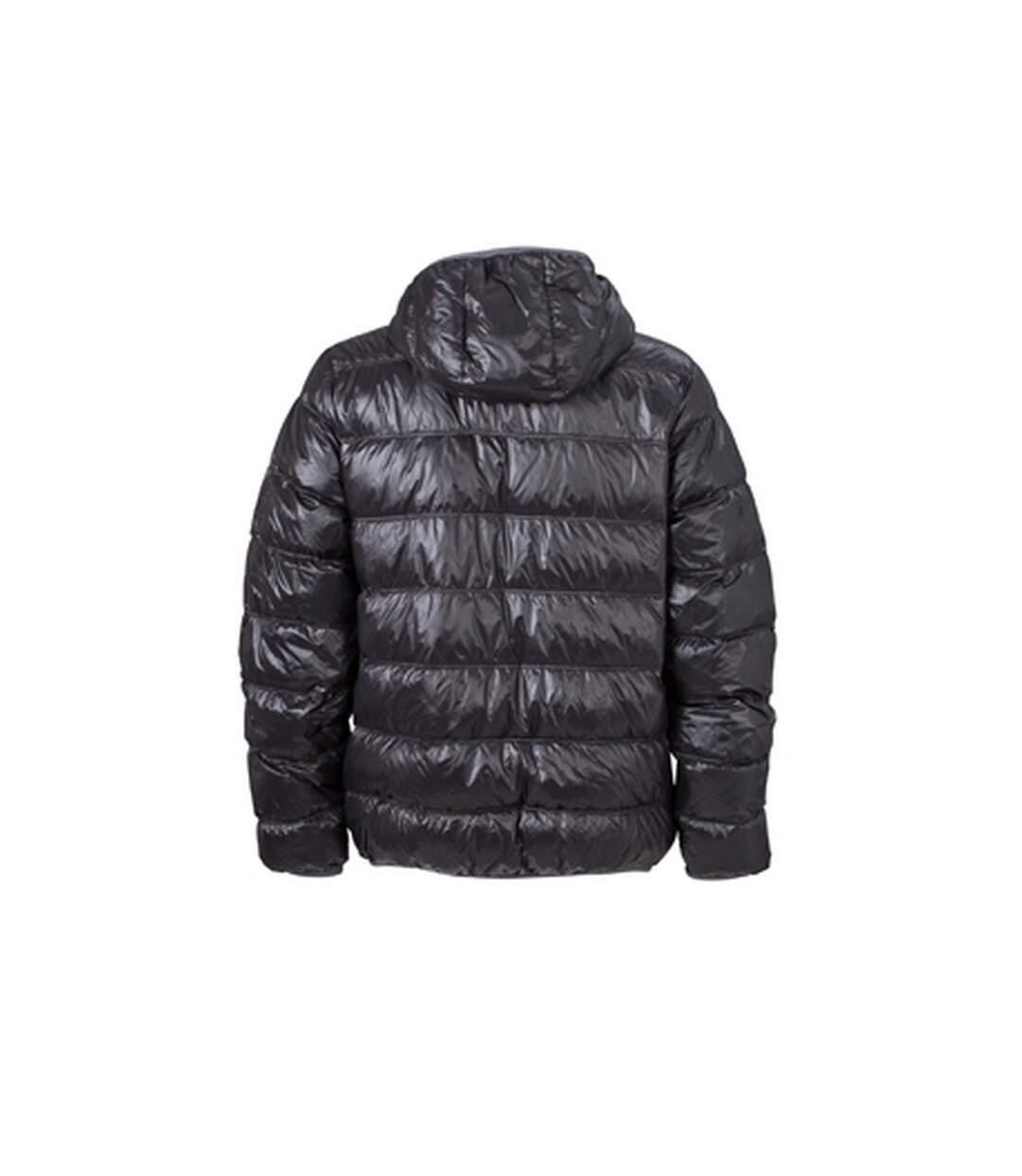 James and Nicholson Mens Down Jacket (Black/Grey) - UTFU229