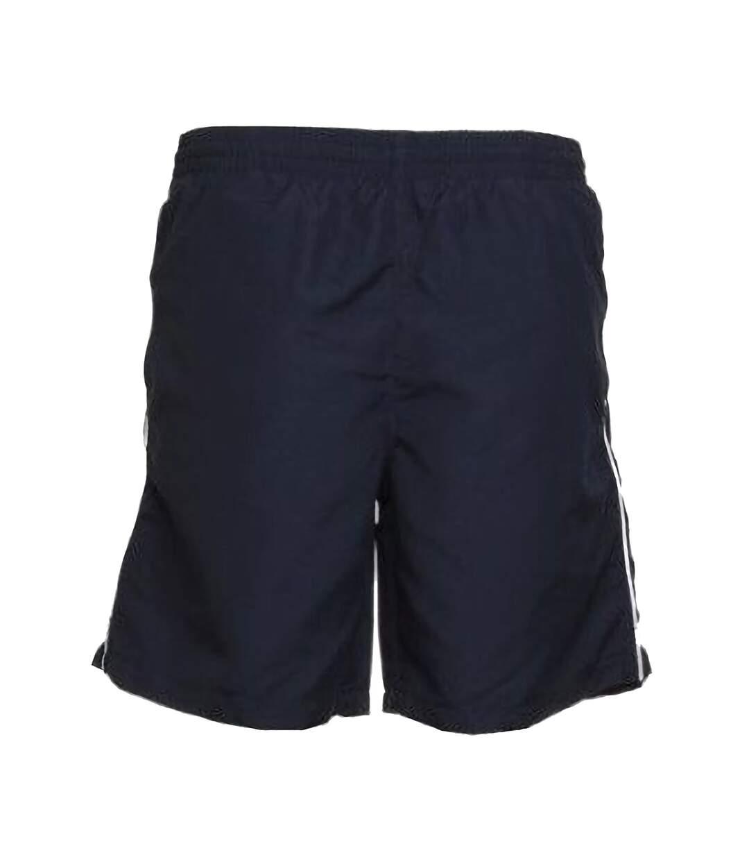 Gamegear® Track Sports Shorts / Mens Sportswear (Navy/White) - UTBC439