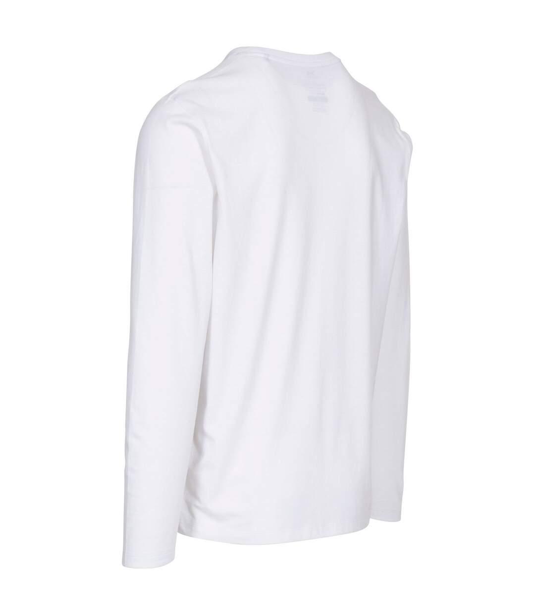 Trespass Mens Wrenburyton Long-Sleeved T-Shirt (White) - UTTP5243