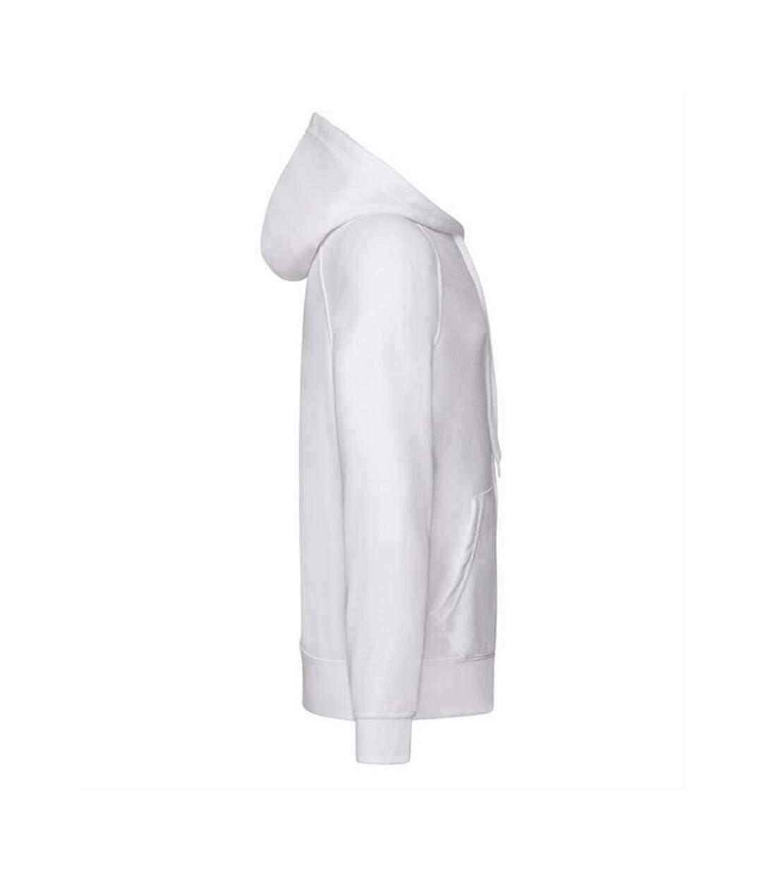 Fruit Of The Loom Mens Lightweight Full Zip Jacket / Hoodie (White) - UTBC2655