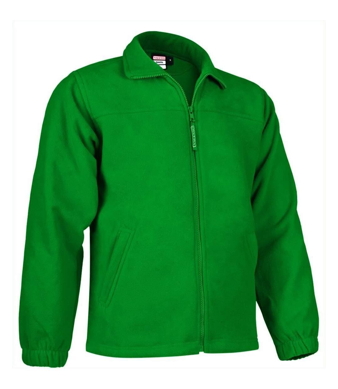 Veste polaire zippée - Homme - REF DAKOTA - vert kelly