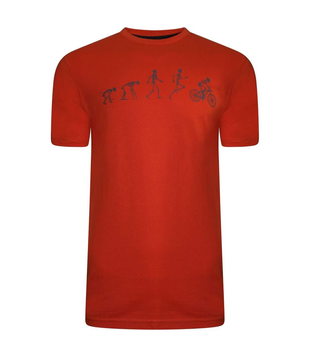 Dare 2B Mens Integral Organic Cotton T-Shirt (Trail Blaze Red) - UTRG5803