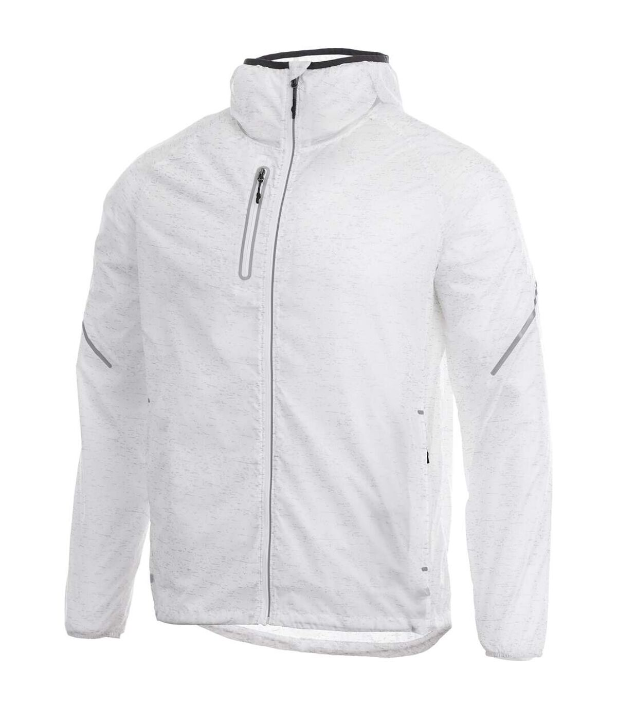 Elevate Mens Signal Reflective Packable Jacket (White) - UTPF1930